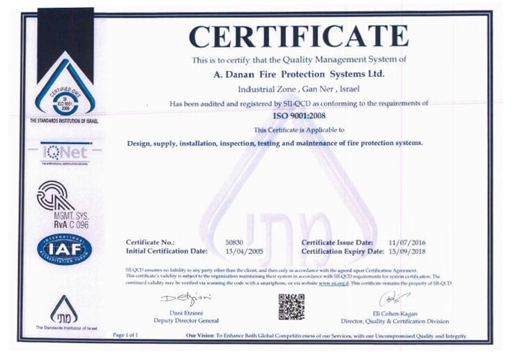 International ISO Certificate